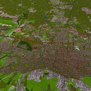 3D bologna city italy model