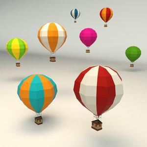 3D model hot air balloon
