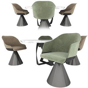 potocco lyz chairs bon 3D model