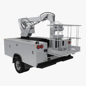 3D crane truck body shell
