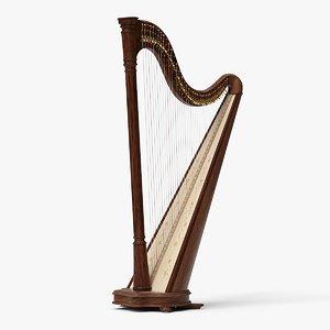 3D realistic lever harp