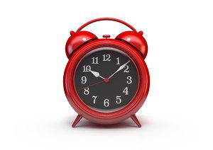 old red vintage alarm clock model