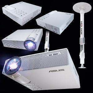 projector asus p3e 3D model