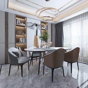3D model diningroom