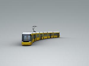 3D bombardier flexity berlin tram