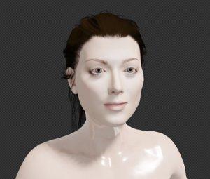 female body face rig 3D