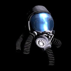 3D model pilot space helmet