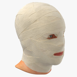 3D bandaged head