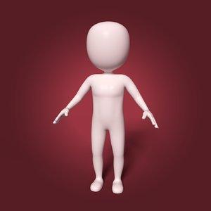cartoon stickman based model