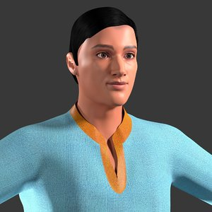 male indian character model