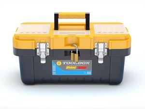 plastic toolbox tool 3D