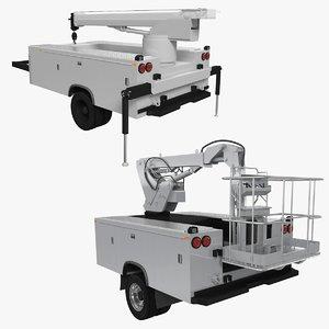 crane truck shell service 3D