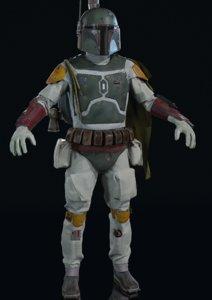 character boba fett 3D model