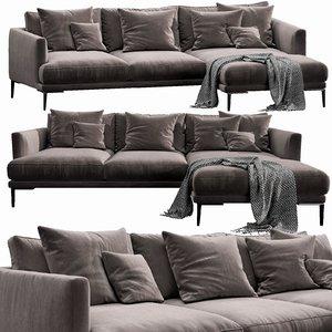 bonaldo paraiso chaise lounge 3D model
