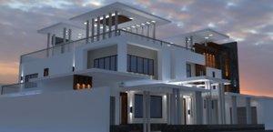 bungalow house exterior model
