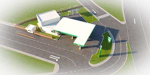 3D bp station site model