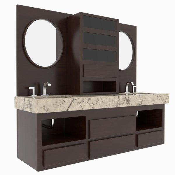 Bathroom Sink Cabinets Model Turbosquid 1562187