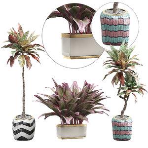potted plants set 35 3D