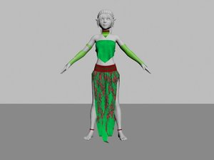 3D elf girl outfit model