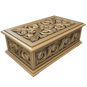 carved casket 3D model