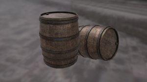 old wood barrel 3D model