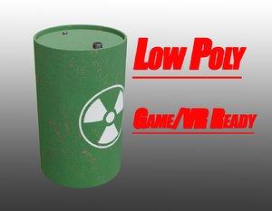 barrel radiation waste 3D model