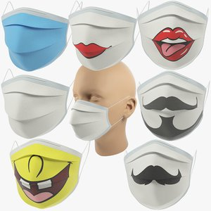 medical masks 3D model