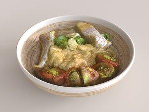 3D model quinoa fish