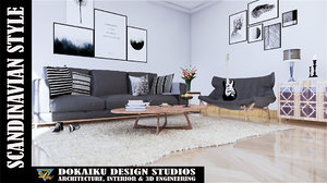 scandinavian interior design 3D model