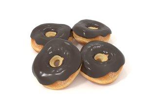 donut food doughnut 3D model