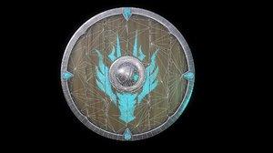 3D medieval shield