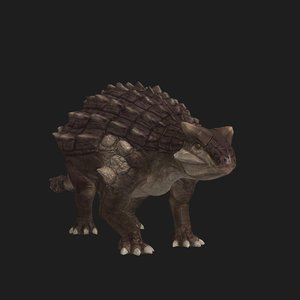 3D ankylosaurus dinosaur animation model