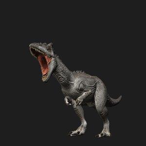 allosaurus dinosaur animation model