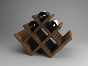 contains wine bottles 3D