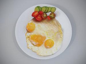 3D fried eggs