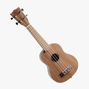 ukulele pbr 3D model