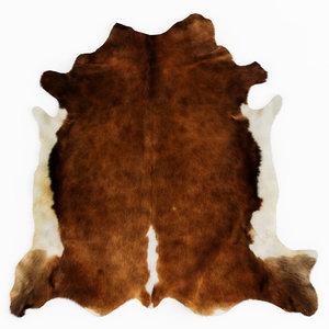 wool european rug cowhide model