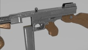 3D model thompson machine gun tommy