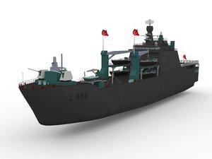 3D milgem l402 bayraktar amphibious