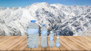 3D water bottles
