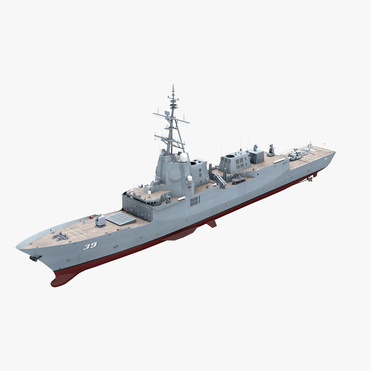 hmas hobart helicopter 3D model