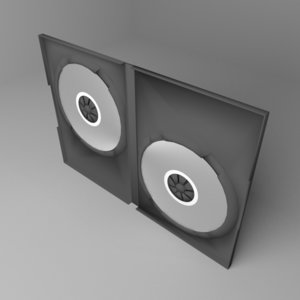 3D double dvd case model