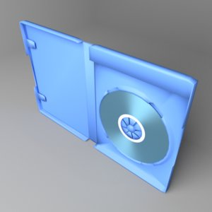 3D model blu-ray disc case