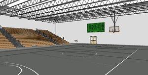3D basketball stadium model