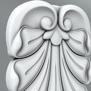 classical decoration 3D