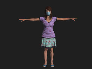 3D lady patient mask