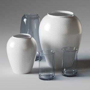 3D set vase