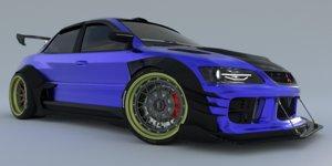 3D mitsubishi lancer evolution ix model