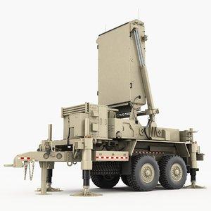 3D tpq-53 radar lockheed martin model