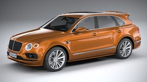 3D model bentley bentayga speed